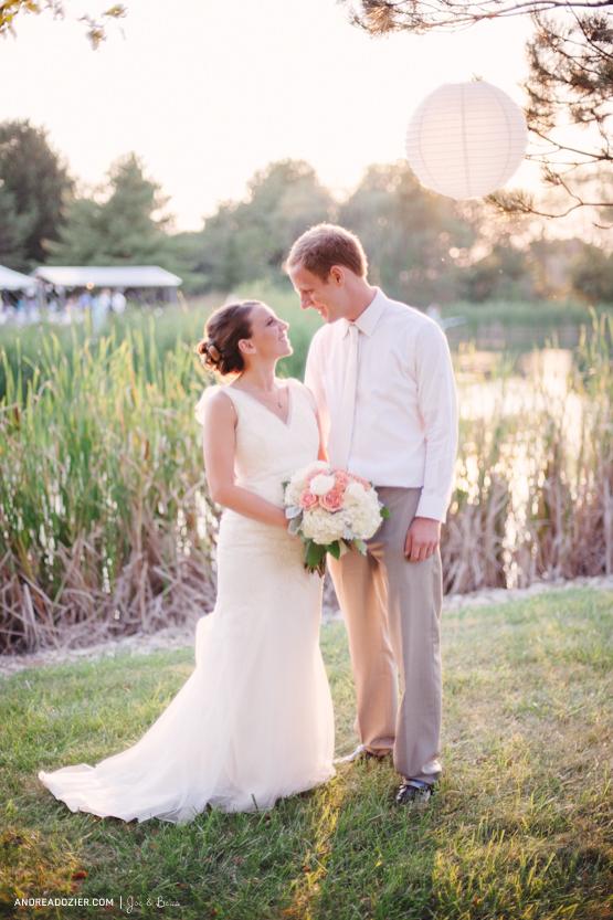 Sunset Portraits at an Ohio Backyard Wedding via AndreaDozier.com