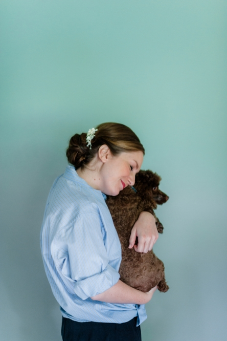 Bride Hugging Poodle \\\ AndreaDozier.com
