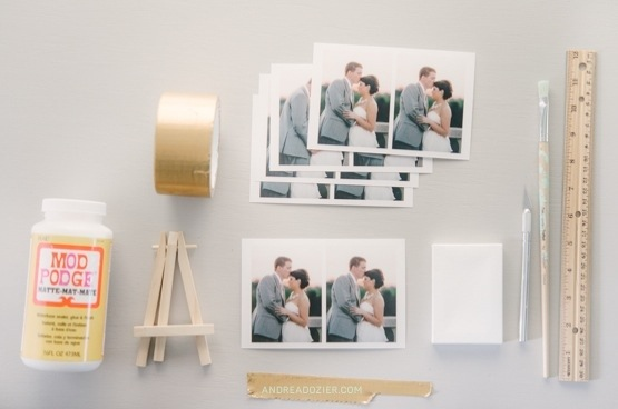 DIY Mini Canvas with Wedding Photos by AndreaDozier.com