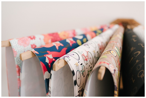 Rifle Paper Wrapping Paper Display | Confetti Shop Photography by Andrea Doziér